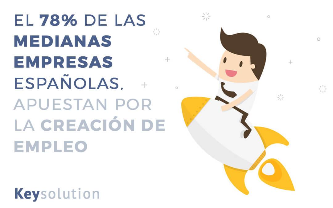 El 78% de las medianas empresas españolas apuestan por la creación de empleo